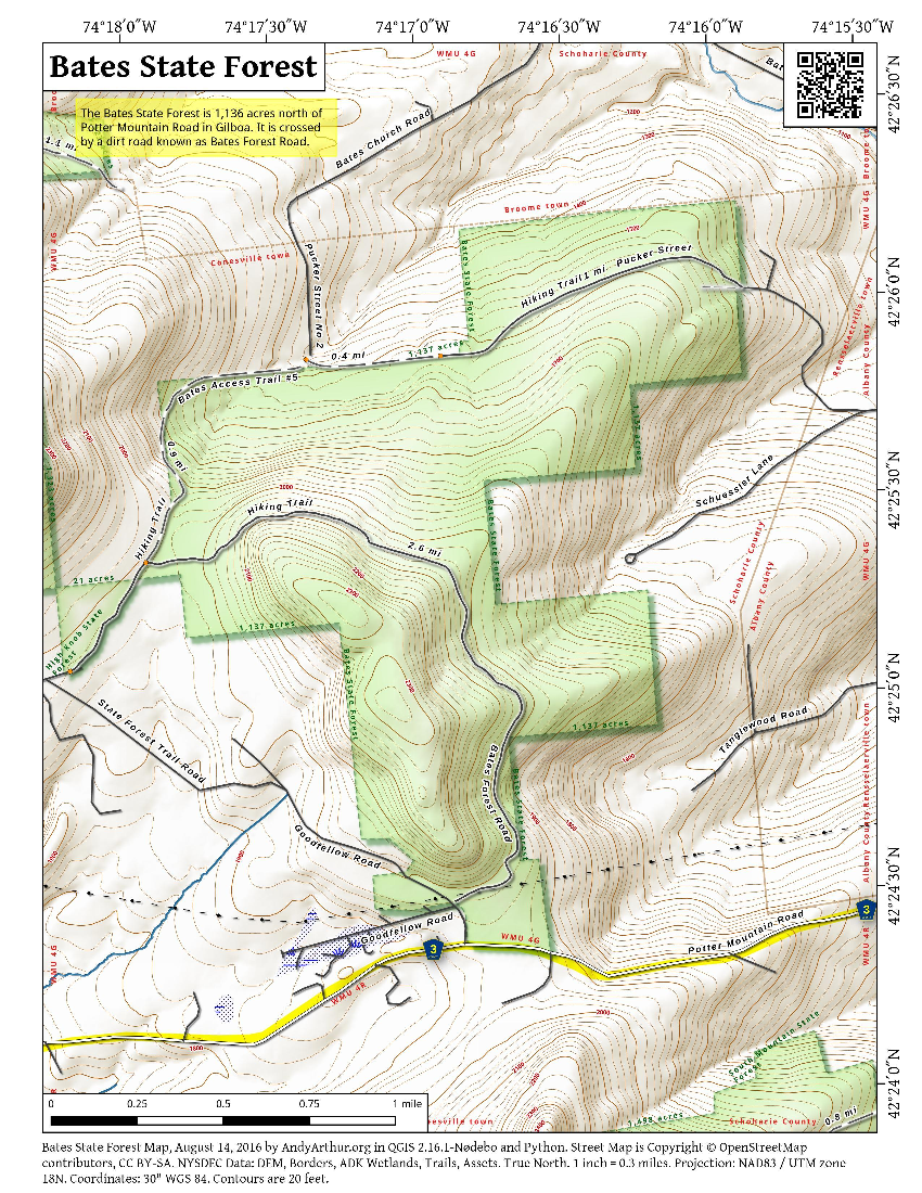 Map: Bates State Forest