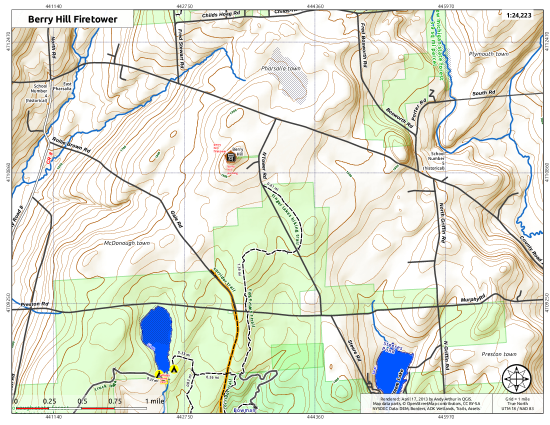 Map: Berry Hill Firetower