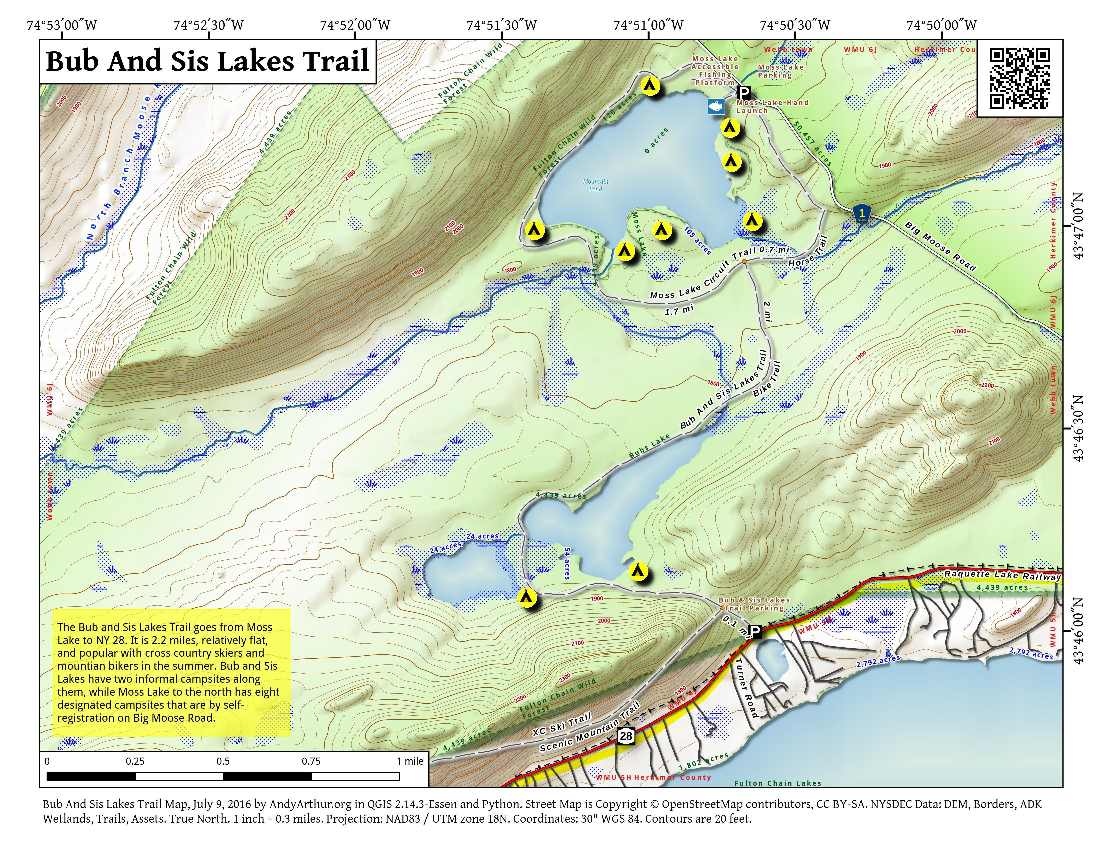 Map: Bubb And Sis Lakes Trail