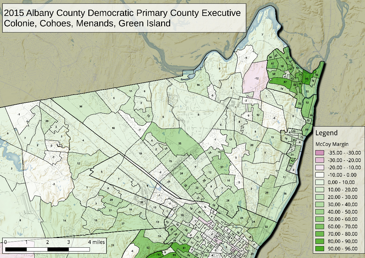 Map 2015 Albany County Democratic Primary  County