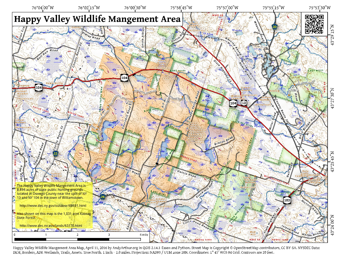 Map: Happy Valley Wildlife Mangement Area