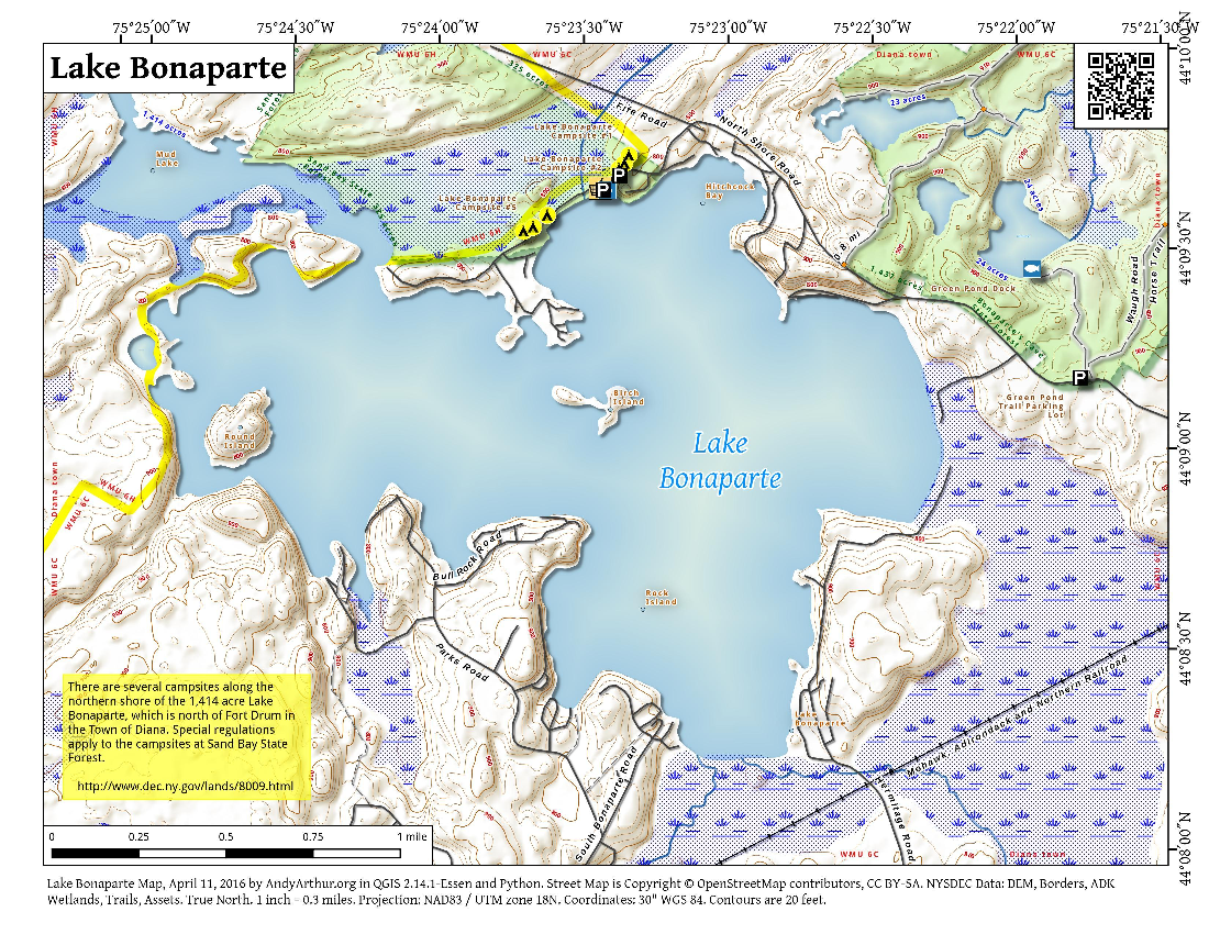 Map: Lake Bonaparte