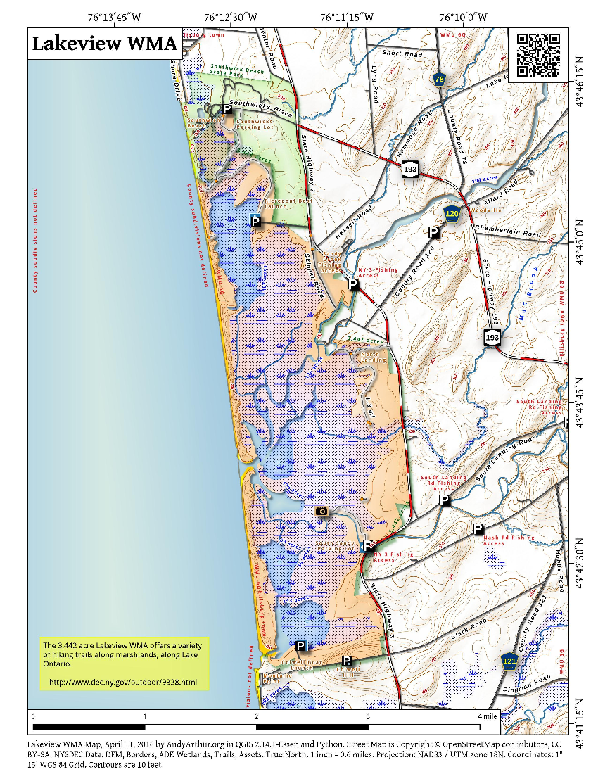 Map: Lakeview WMA