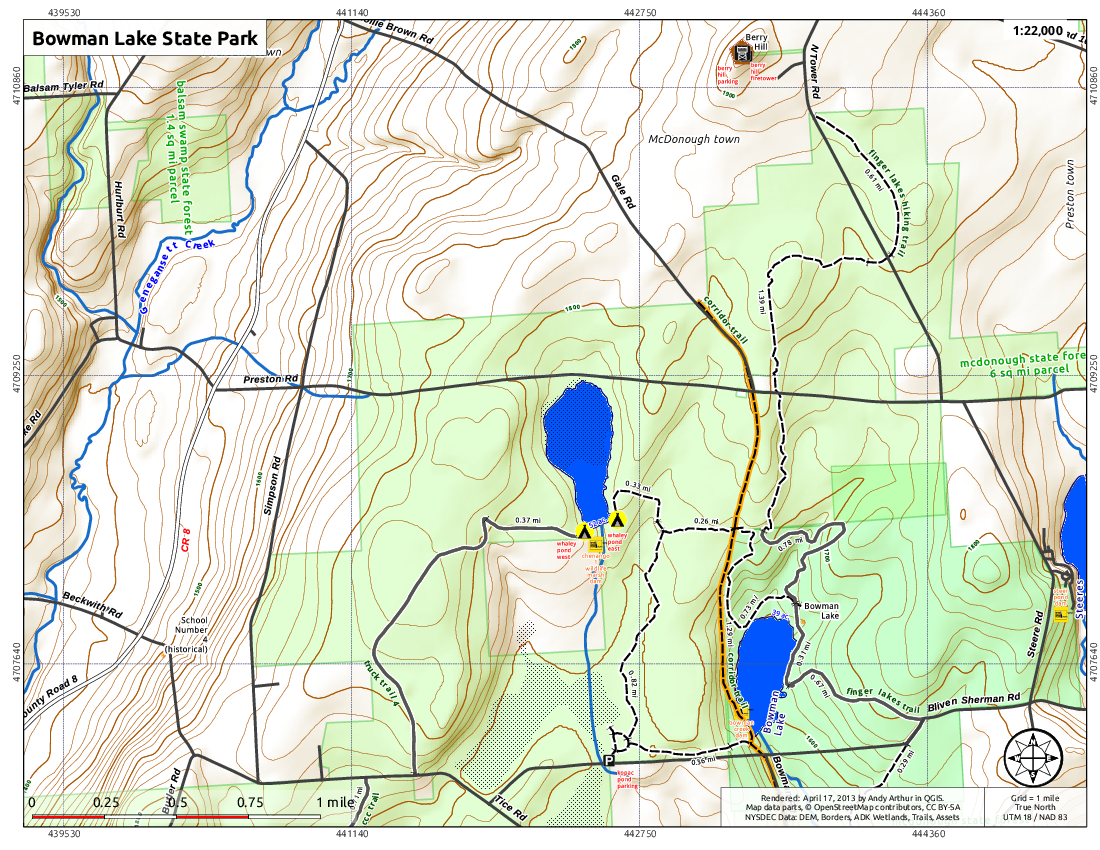 Map: Bowman Lake State Park