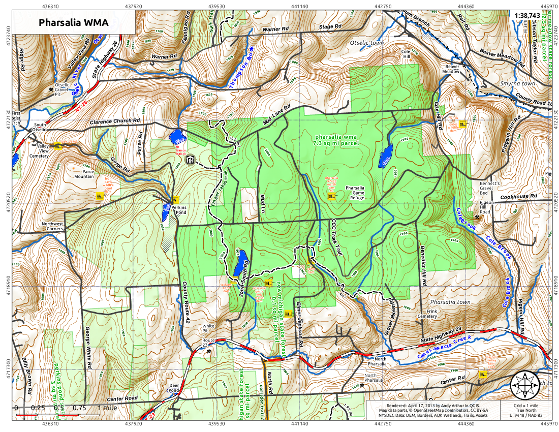 Map: Pharsalia WMA