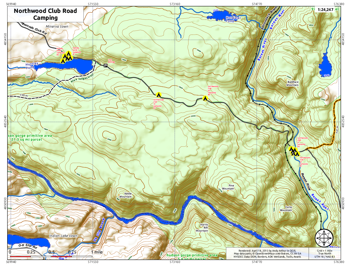 Map: Northwood Club Road Camping