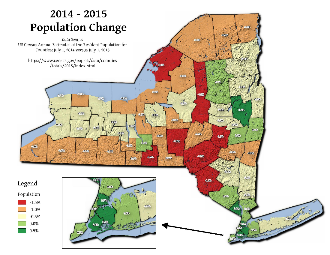 Map: 2014 – 2015 Population Change
