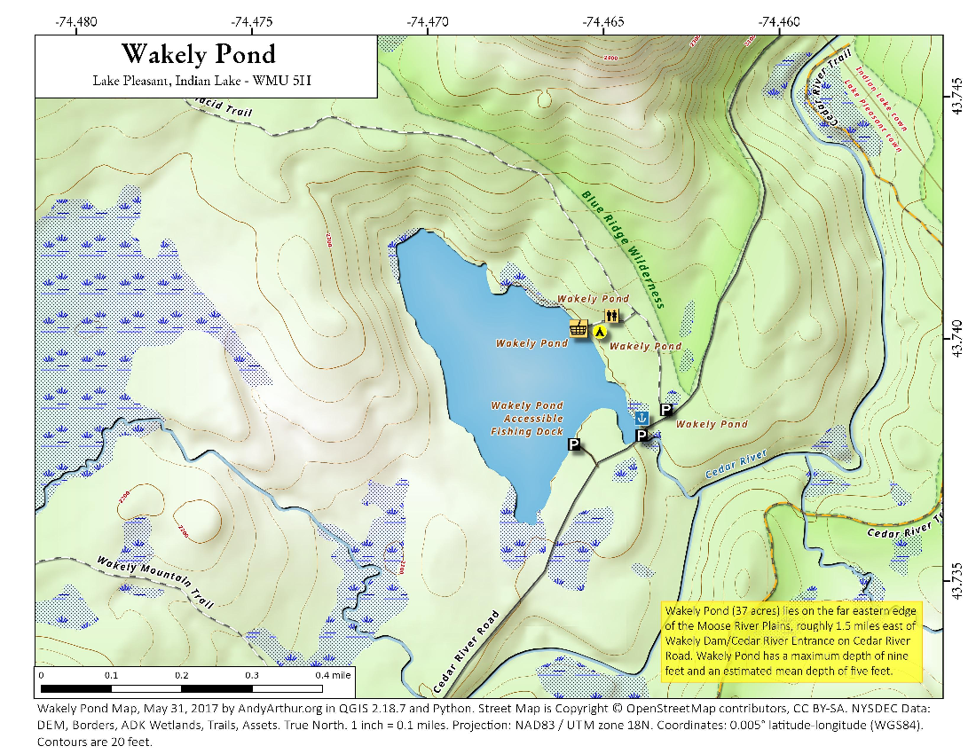 Map: Wakely Pond