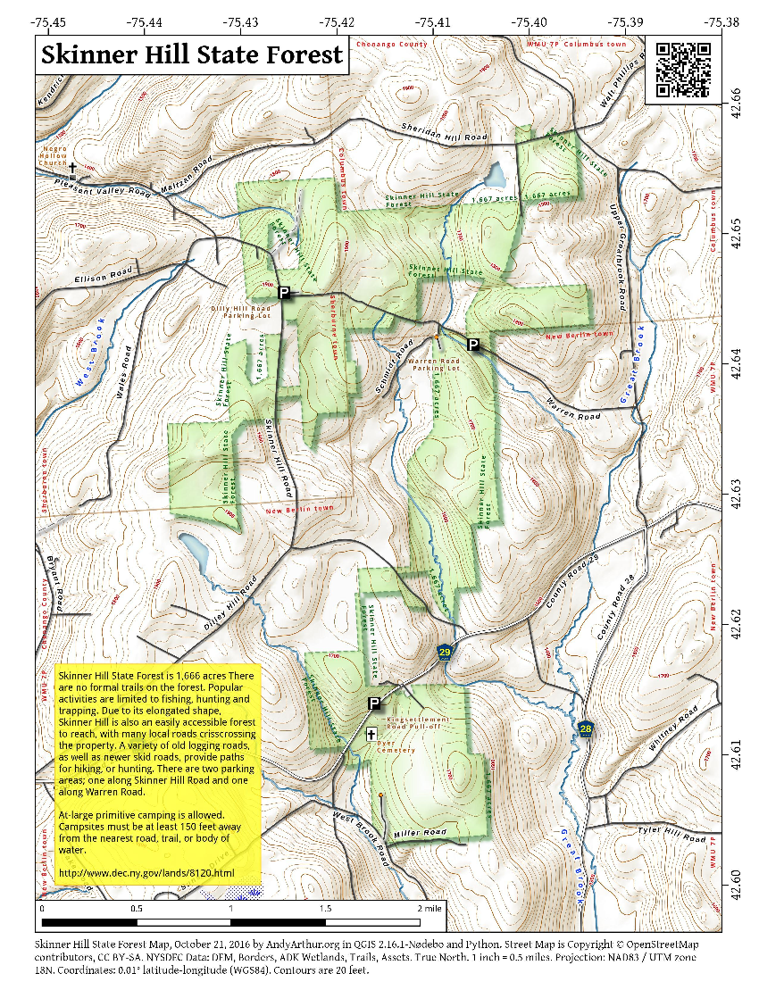 Map: Skinner Hill State Forest