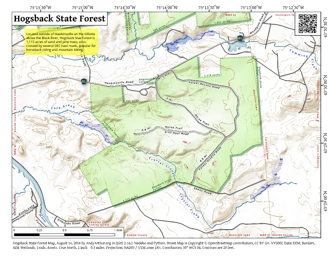 Map: Hogsback State Forest