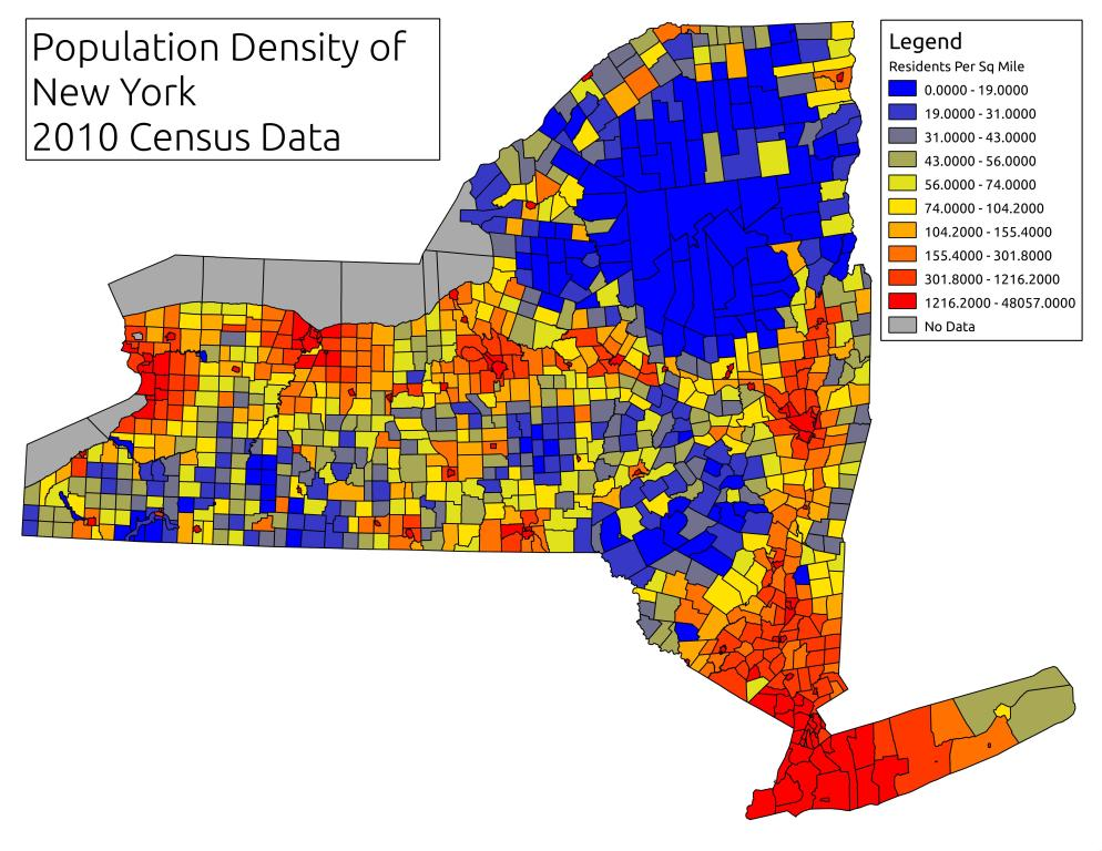 Map Population Density Of New York  Andy Arthur