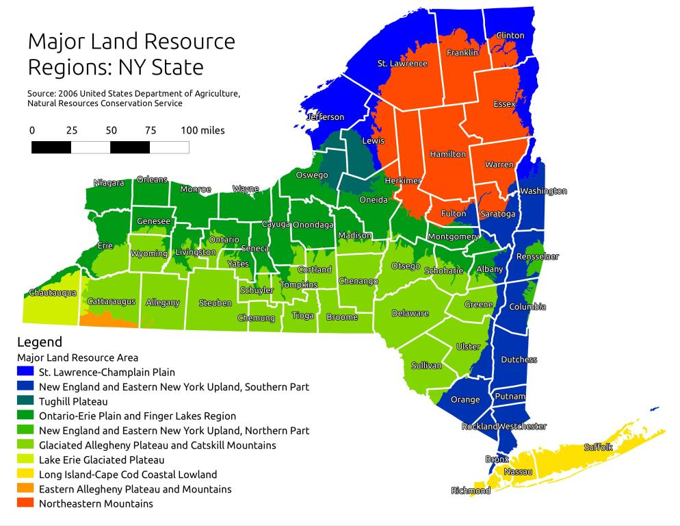 Map: Major Land Resource Regions