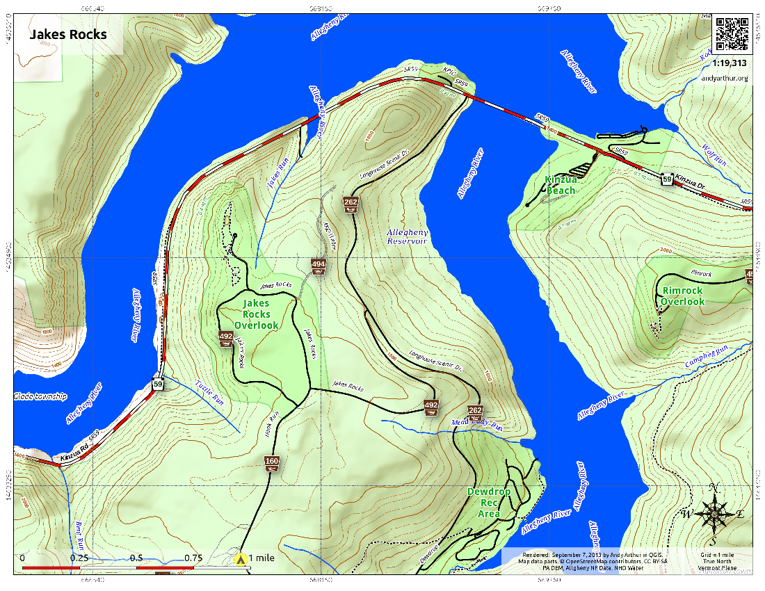 Map: Jakes Rocks