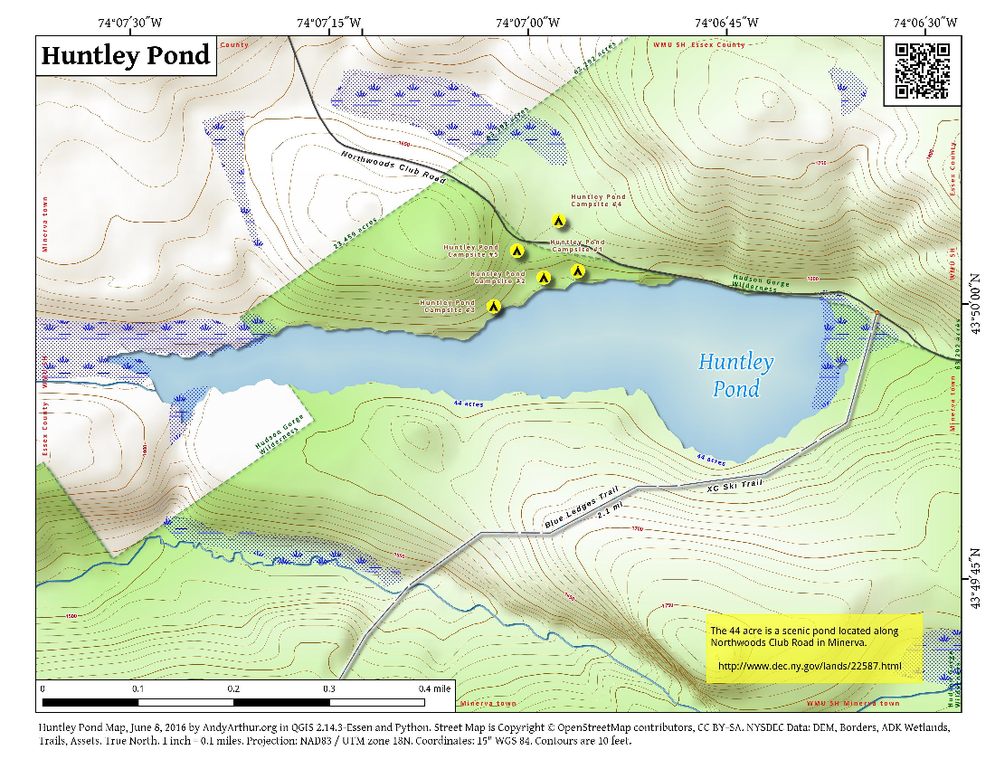 Map: Huntley Pond