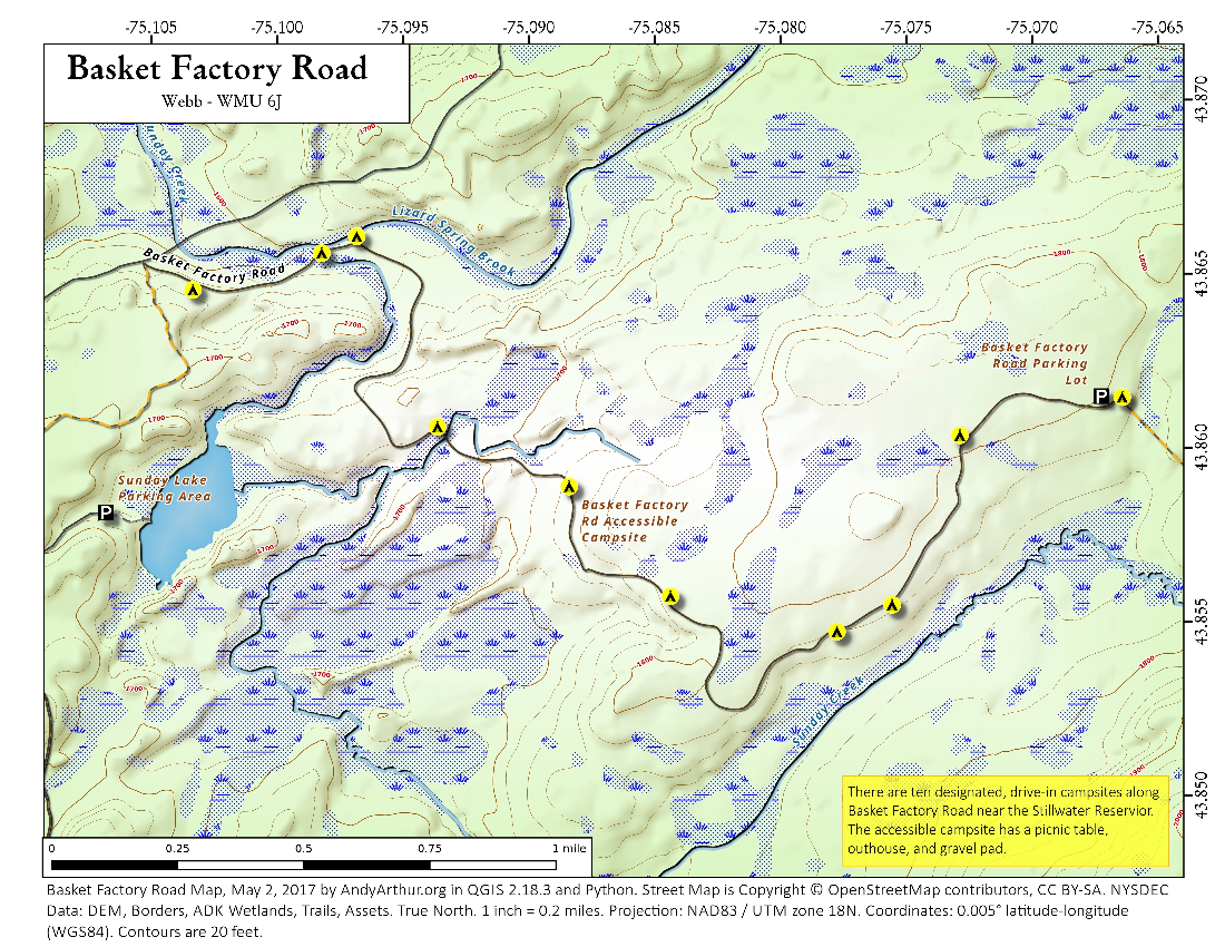 Map: Basket Factory Road