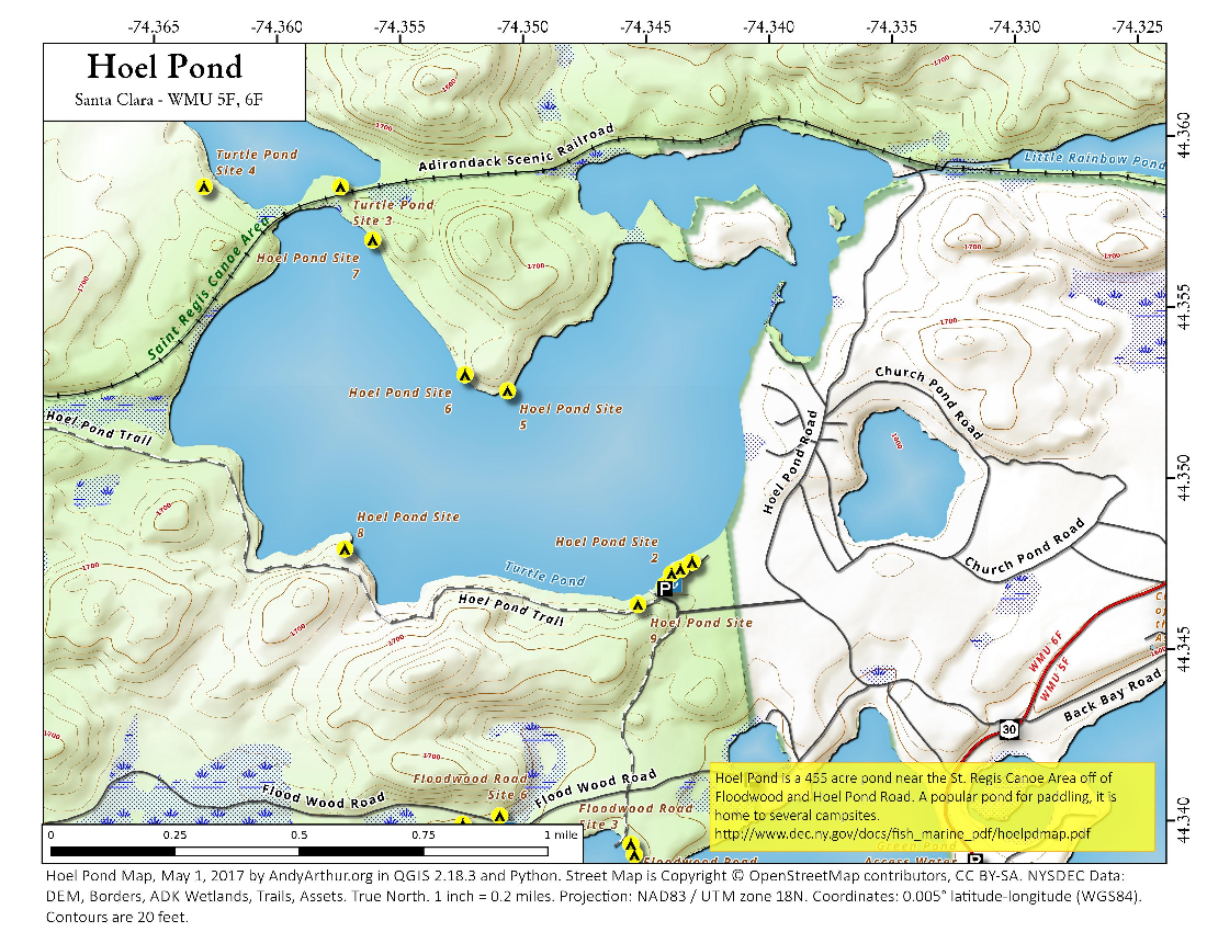 Map: Hoel Pond