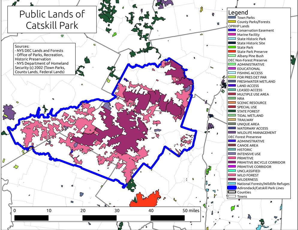 Map: Public Lands of Catskill Park – Andy Arthur.org on canyon de chelly national monument map, new england park map, shawangunk ridge map, memphis park map, cranberry lake park map, devil's den state park map, ochlockonee river state park map, catskills on map, susquehanna state park trail map, boston park map, fort lee park map, caledonia state park trail map, bill baggs cape florida state park map, eastern catskills map, colton point state park map, the catskills map, van buren park map, esopus creek map, brown county state park map, rocky mountain national park trail map,