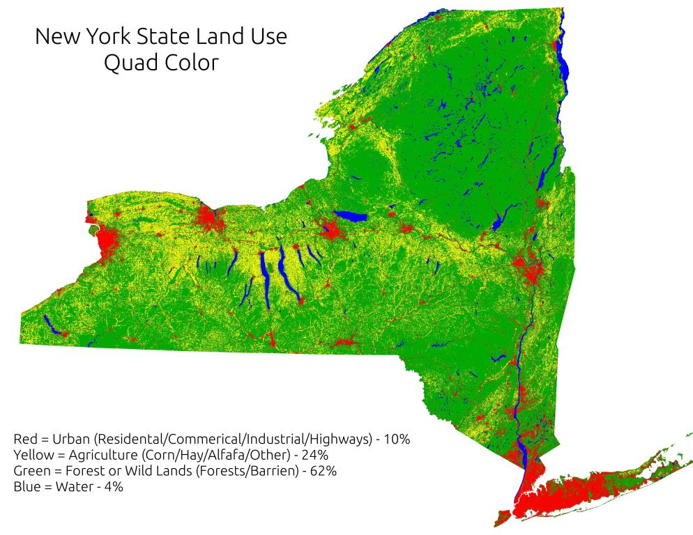 Map: New York State Land Use (Quad Color)