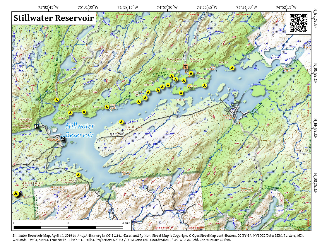 Map: Stillwater Reservoir