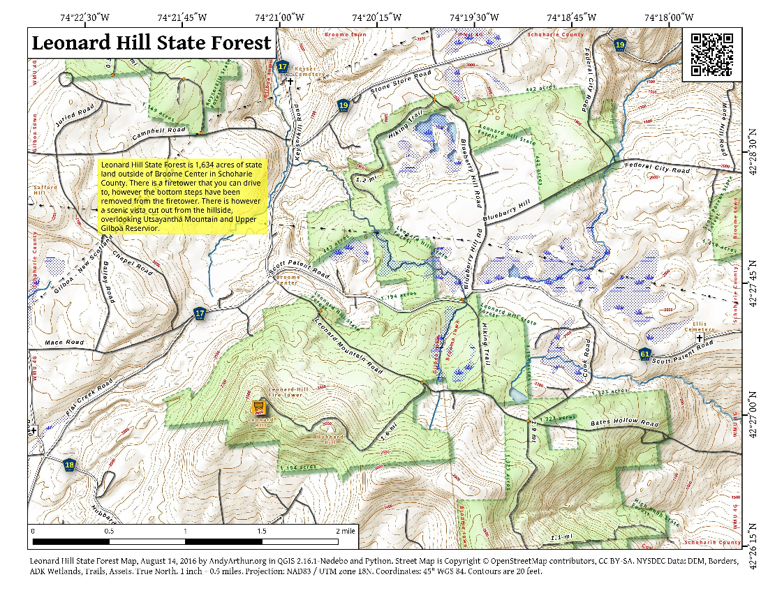 Map: Leonard Hill State Forest