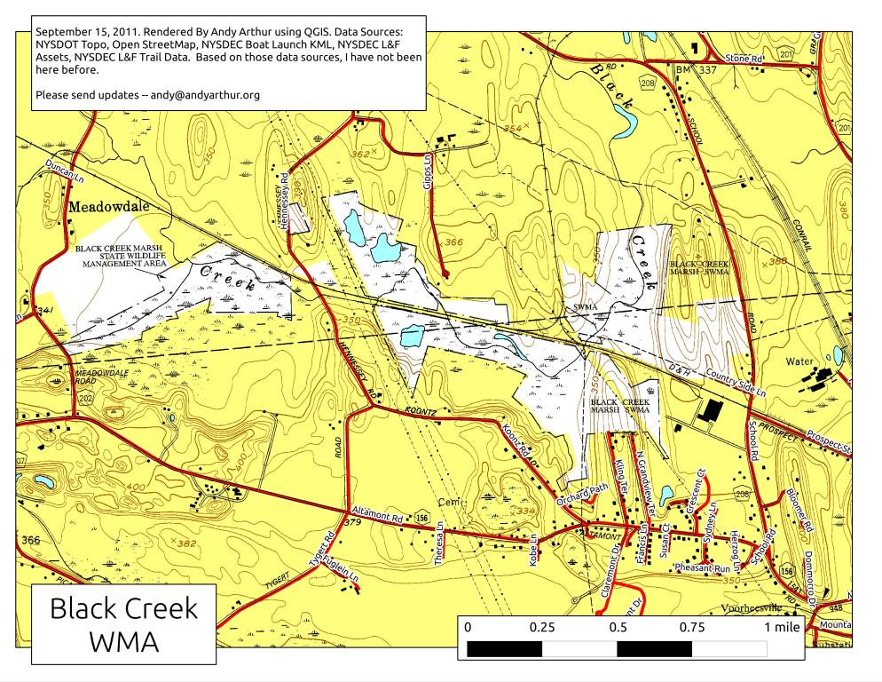 Map: Black Creek WMA