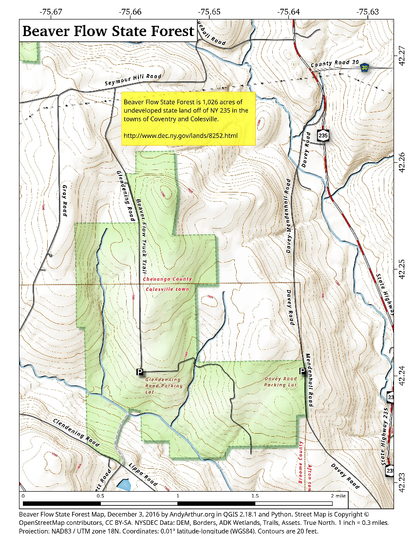 Map: Beaver Flow State Forest
