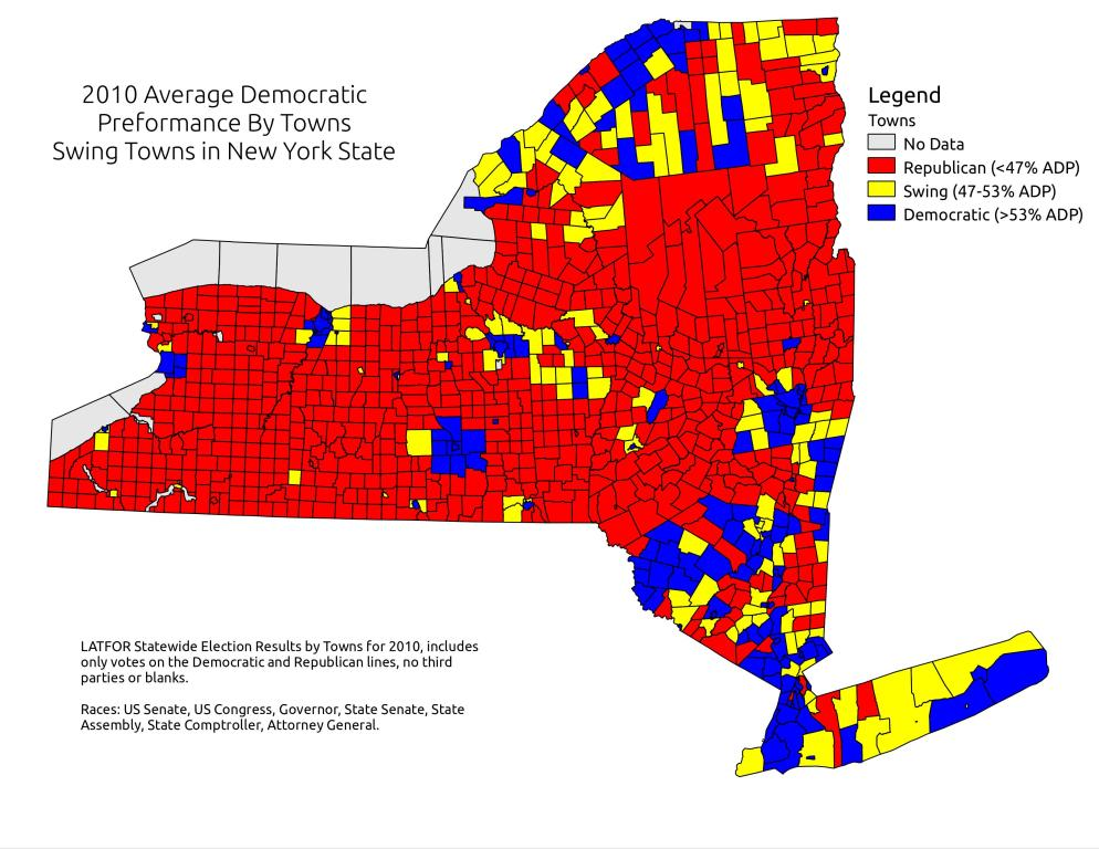 map 2010 adp for ny state with swing towns