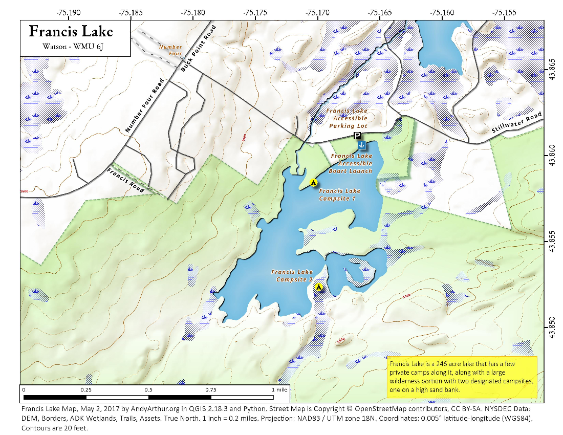 Map: Francis Lake