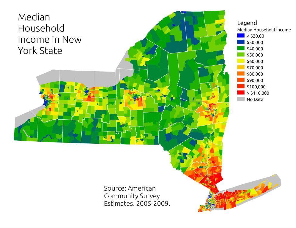 Income Map City Data