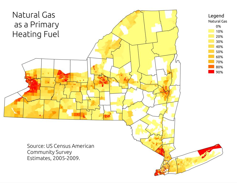 Map: Natural Gas as a Primary Heating Fuel
