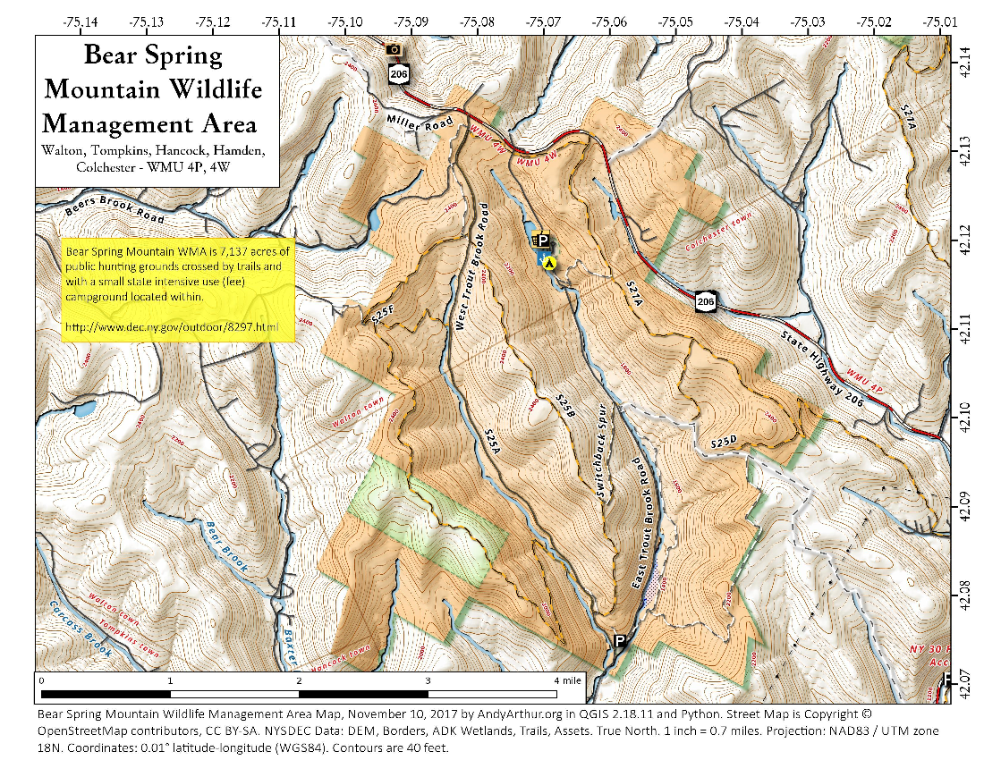 Map: Bear Spring Mountain Wildlife Management Area