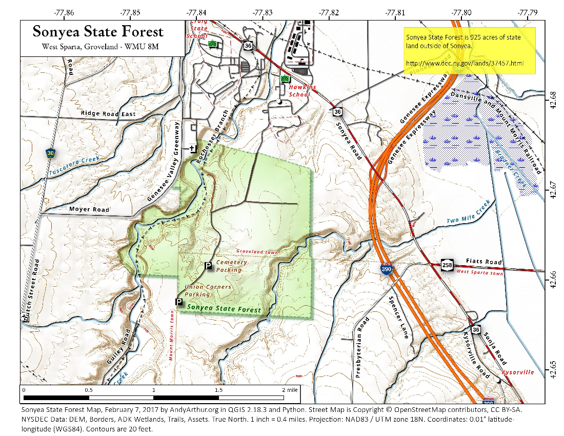 Map: Sonyea State Forest
