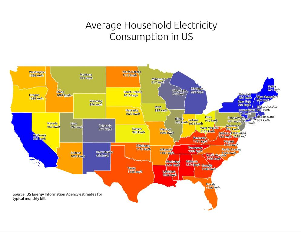 Electricity map