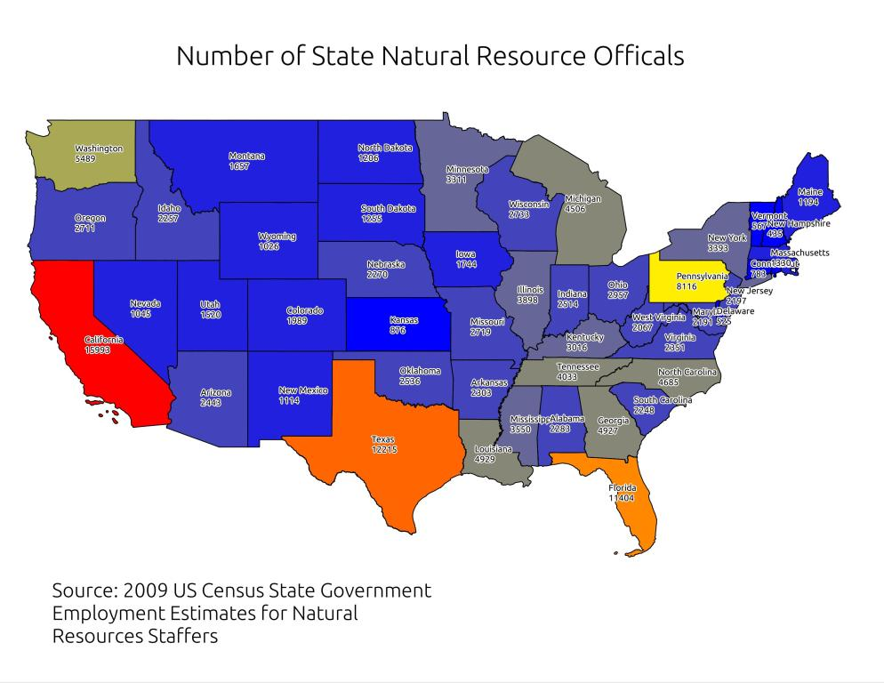Natural Resources By State Map