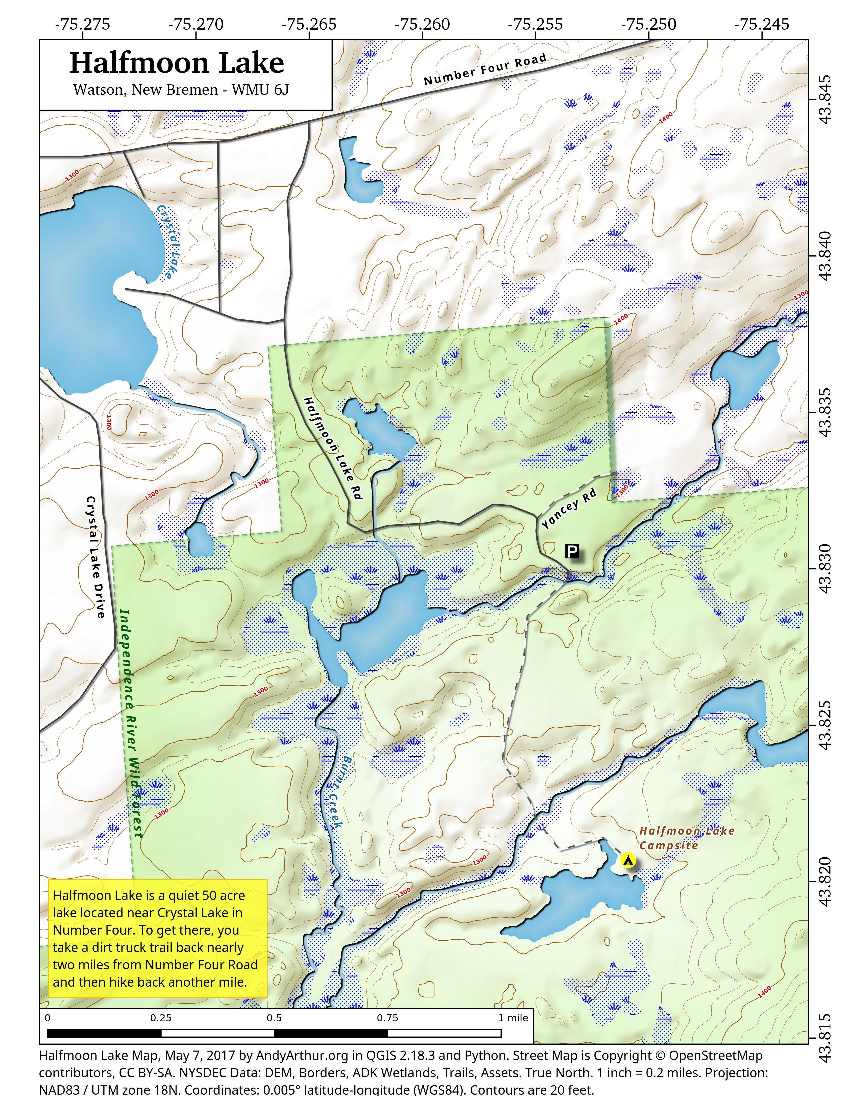 Map: Halfmoon Lake