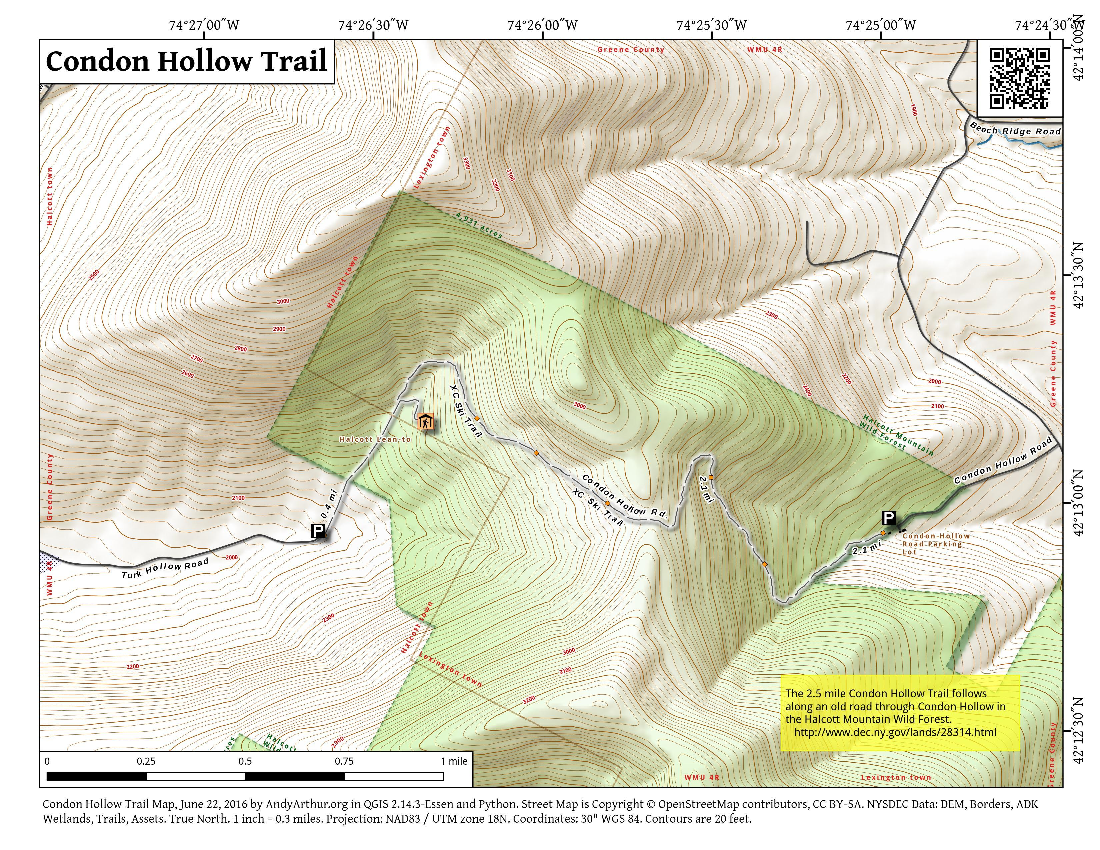Map: Condon Hollow Trail