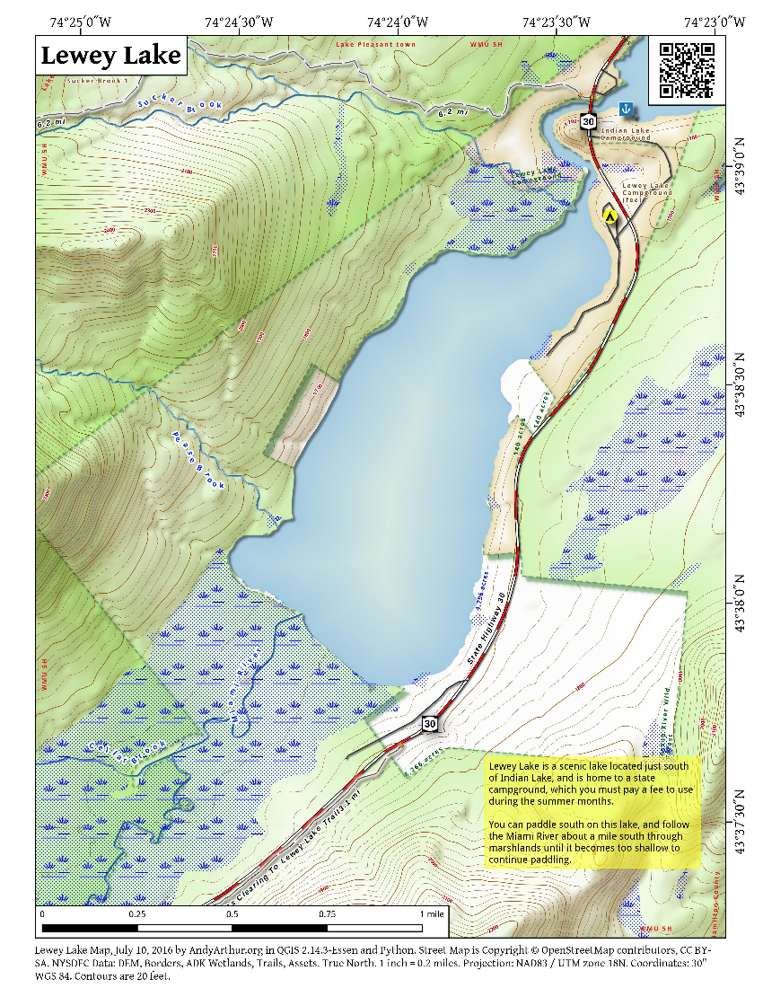 Map: Lewey Lake
