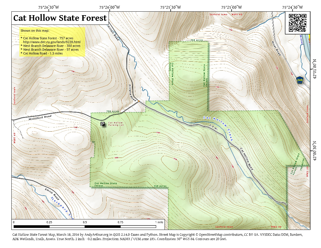 Map: Cat Hollow State Forest