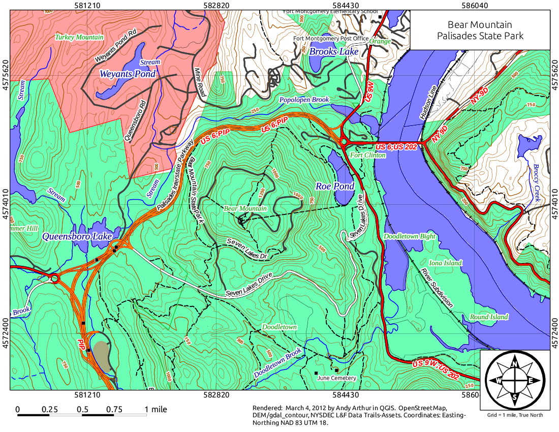 Map: Bear Mountain
