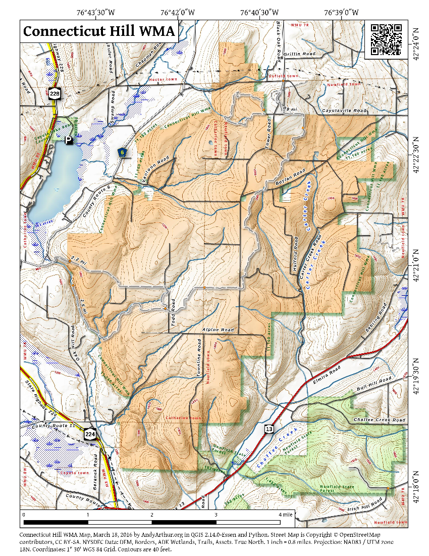 Map: Connecticut Hill WMA