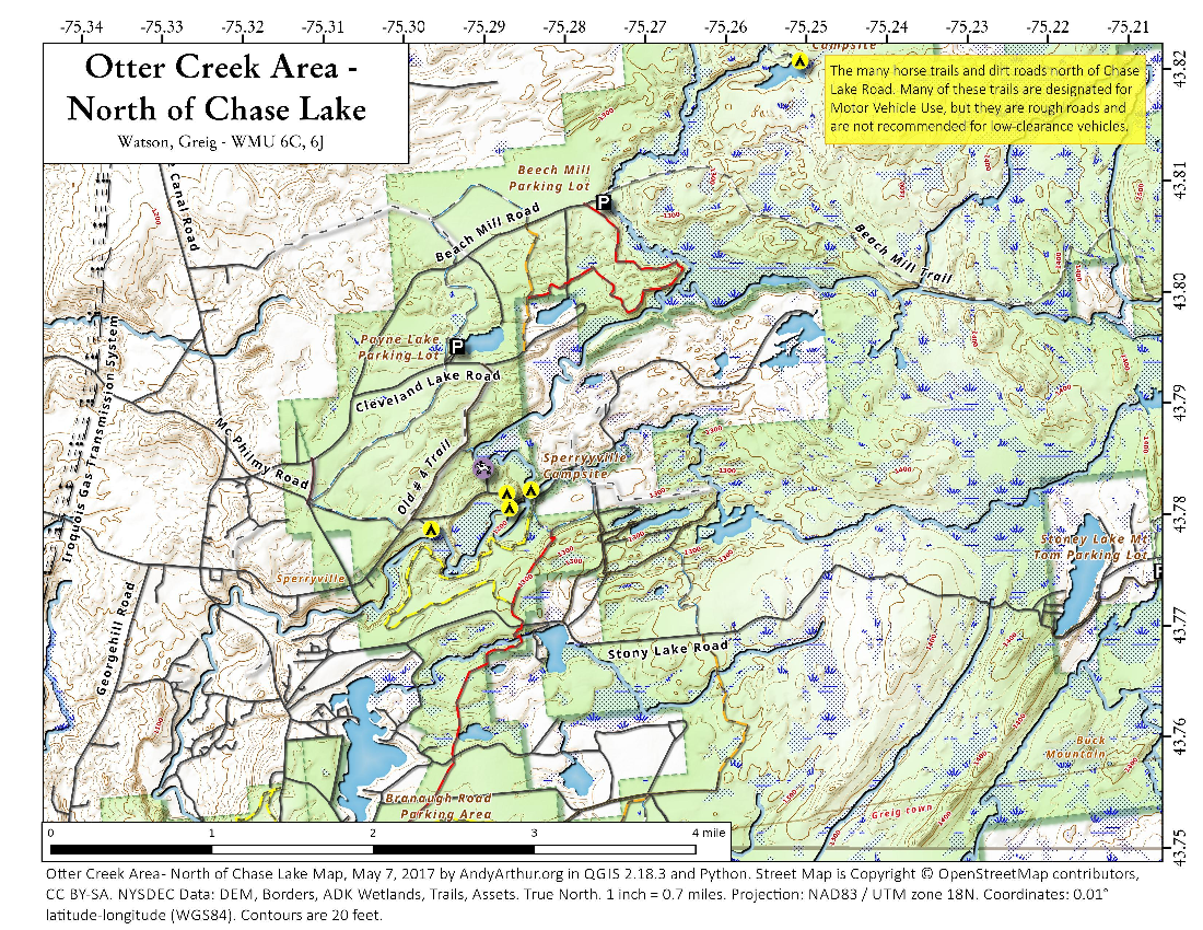 Map: Otter Creek Area – North Of Chase Lake