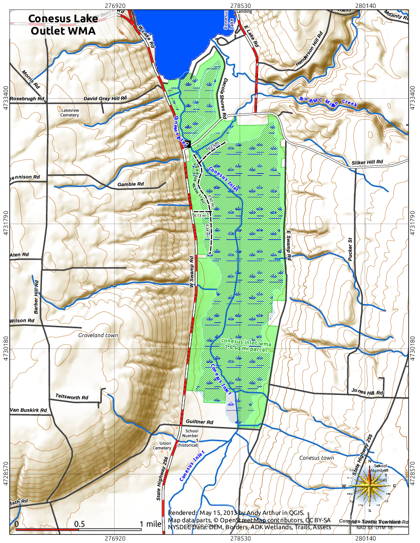Map: Consesus Lake Outlet WMA