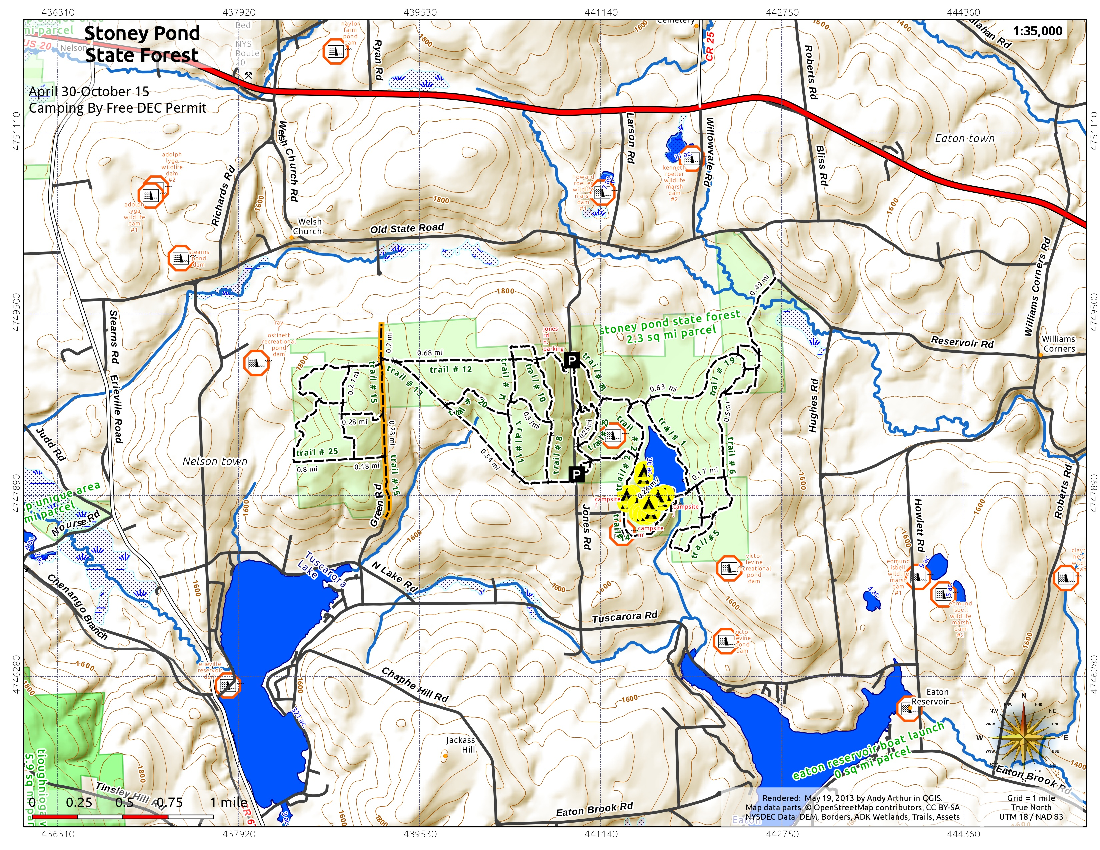 Map: Stoney Pond State Forest