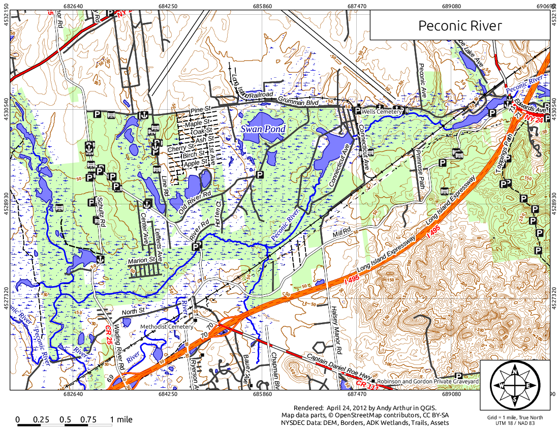 Map: Peconic River