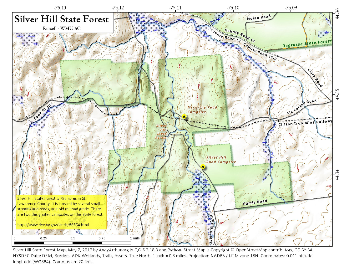 Map: Silver Hill State Forest