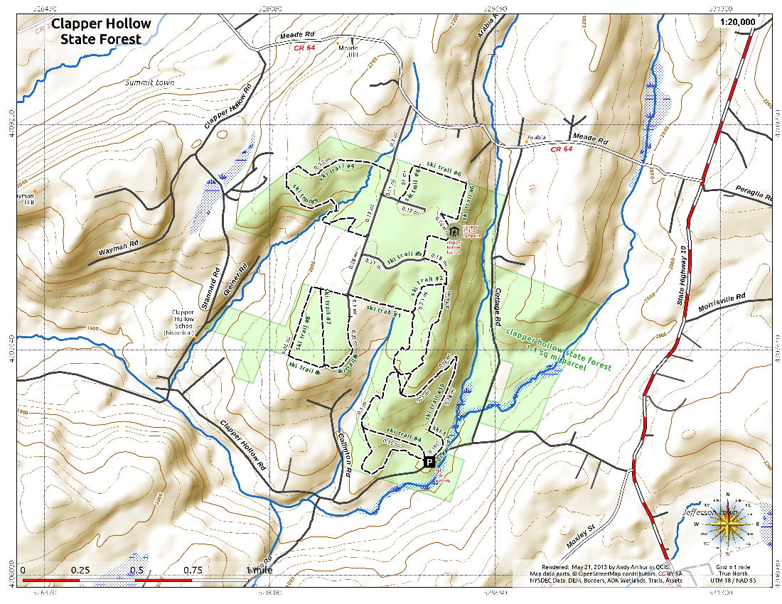 Map: Clapper Hollow State Forest