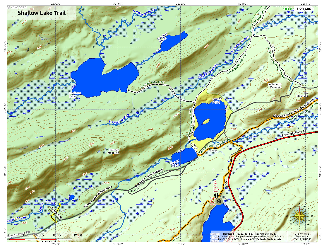 Map: Shallow Lake Trail