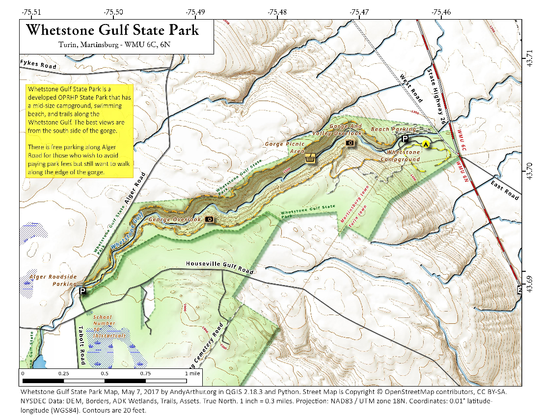 Map: Auger Falls Trails