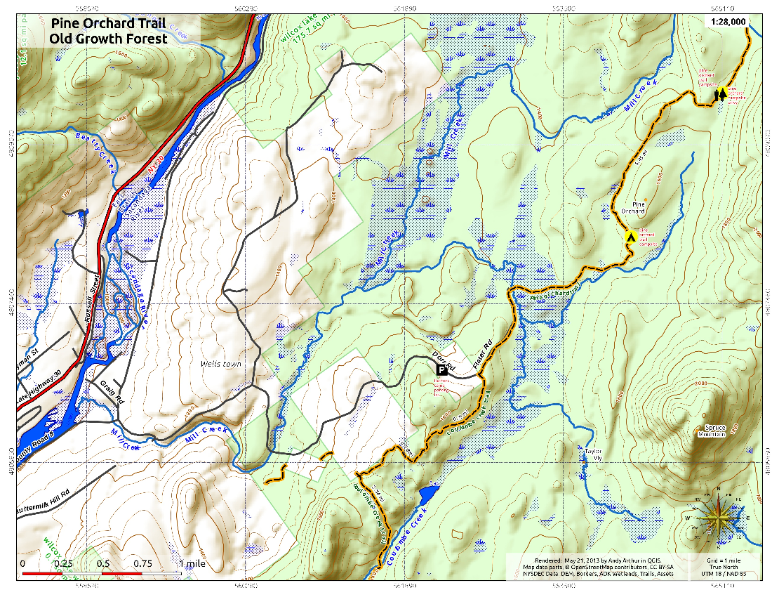 Map: Pine Orchard Trail