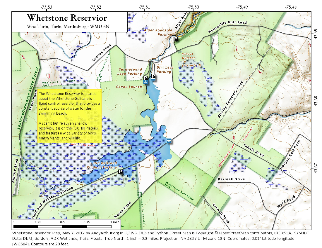 Map: Whetstone Reservior